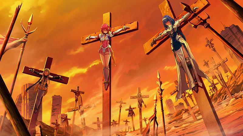磔にされるエスカレイヤー、ハルカ、エクシール